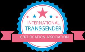 Badge indicating Certified Transgender Care Therapist from International Transgender Certification Association