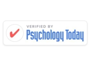 "Logo with red check mark and text ""Verified by Psychology Today"""