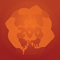 Yoga alliance ryt 200 logo with orange and red writing.