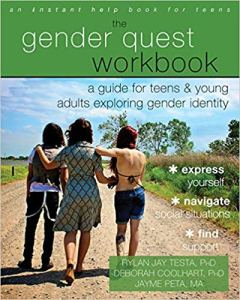 Book cover, The Gender Quest Workbook by Rylan Jay Testa, Deborah Coolhart & Jayme Peta