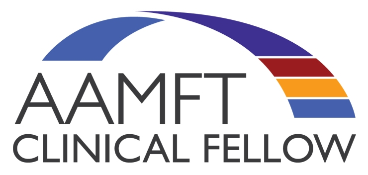 Words: AAMFT Clinical Fellow with AAMFT colored logo